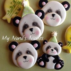 Panda cookies by My Nannas Nibbles