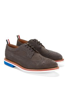 Thom Browne | Wingtip Oxfords...patriotic
