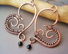 Wire Earrings by ladiebluz on Etsy