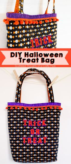 FREE pattern for DIY Trick or Treat Bag from ScatteredThoughtsofaCraftyMom.com --- Grab supplies at your local Jo-Ann or online at Joann.com