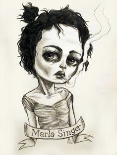 Drawing of Marla Singer by Mai