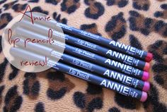 Toothfairy's             beauty tales: Annie lip pencils - Review & swatches!