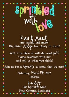 Sprinkled with Love  Baby Shower Invitation by lovebandpdesigns, $15.00