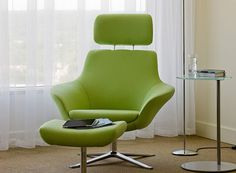 armchair with footstool BOB by Pearson Lloyd Coalesse