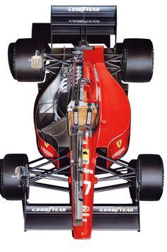Ferrari 640 1989 x-ray タミヤ Ferrari Racing, Ferrari F1, F1 Racing, Drag Racing, Cutaway, Grand Prix, Gp F1, Gilles Villeneuve, Formula 1 Car