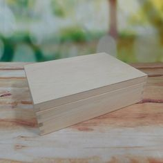 Plain Knitting Needles Box Long Wand Case Slim Wooden Box with lid