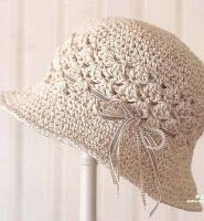 Tina's handicraft : summer crochet hat with flowers