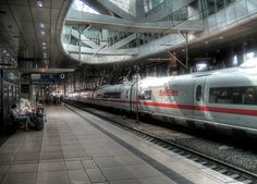 Frankfurt Airport Train Station...many people watching hours here, close to where we lived...so cool