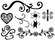FREE SVG File – Decorations #1 – Swirleys Flowers Heart Flourish | Miss Vickie's CuttingCrazy Blog