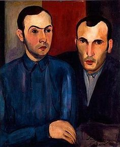 Sarah Afonso Portuguese Artist, Portrait of Tagarro and Waldemar da Costa, 1929 Harlem Renaissance, Spanish Art, Art Deco, Magic Realism, Oil Painters, Arte Popular, Figure Painting, Contemporary Artists, Art History