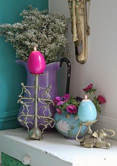 Jade, Purple, Pink, Blue. Colour combos including Annie Sloan Florence. Janice Issitt for Holy Cow Home