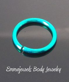 New 18G Green Titanium Anodized Non Piercing Nose Lip Ear Hoop Ring Clip 8mm #EmmajewelsBodyJewelry #Ring