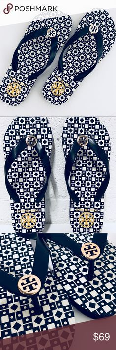 Tory Burch women flipflop Brand New 100% authentic Tory Burch  Flip flops Tory Burch Shoes Sandals