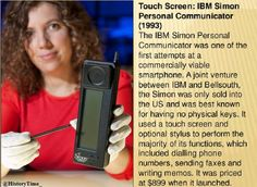 World's first smartphone, IBM's Simon was launched on 16 August 1993.