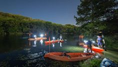 Full Moon Paddle Tours at Spring Lake in San Marcos, Texas Offer Solitude Unlike Any Other