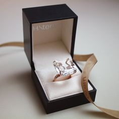 Iris ring in 18K rosé gold with nude topaz and diamonds. #holidays