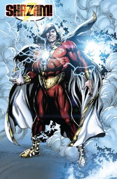 Not a fan of the new 52 design, and the fact that they call him Shazam rather than Captain Marvel. Captain Marvel Shazam, Marvel Dc, Arte Dc Comics, Shazam Dc Comics, Shazam Comic, Flash Comics, Comic Book Characters, Comic Book Heroes, Comic Character