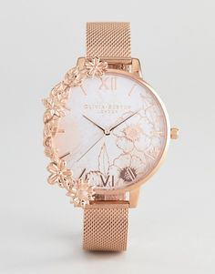 Order Olivia Burton Case Cuff Mesh Watch In Rose Gold online today at ASOS for fast delivery, multiple payment options and hassle-free returns (Ts&Cs apply). Get the latest trends with ASOS. Stylish Watches For Girls, Trendy Watches, Gold Watches Women, Rose Gold Watches, Casual Watches, Fancy Watches, Hand Jewelry, Jewellery, Beautiful Watches