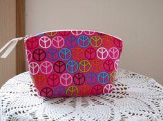 Cosmetic Bag Clutch Purse Zipper Retro Peace by Antiquebasketlady, $12.00 #teamsellit