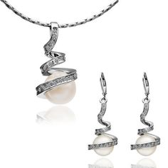 Bridesmaid Jewelry Set Simulated Pearl Jewelry Set Pearl Bridal Set Bridal Wedding Jewelry,JGW020 >>> You can get additional details at the image link.