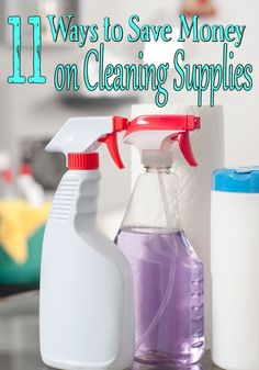 Cleaning supplies are often one of the most overlooked places to save money. If you have been skipping over them, these ways to save money on cleaning supplies can help! Deep Cleaning Tips, Cleaning Hacks, Cleaning Supplies, Cleaning Products, Saving Ideas, Money Saving Tips, Money Hacks, Money Savers, Money Tips