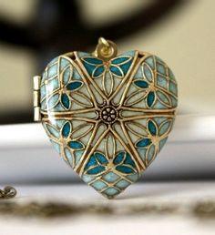 heart shape filigree lockett ~ by M Stevenson Designs
