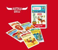 """Play Bac éditions spéciales - Mes premières énigmes pour Buffalo Grill® - """"Bienvenue en Amérique"""" - www.playbac-editions-speciales.fr"""