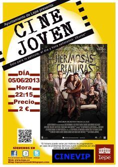 Cine Joven presenta: Hermosas criaturas, el miércoles, 5 de junio, a las 22,15h. en Cinevip Lepe.