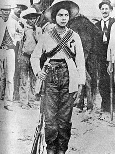 "Valentina Ramirez was the most famous of the ""Adelitas"" the women who took arms in the Mexican Revolution"