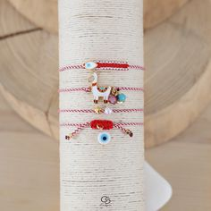 My Christel : Handmade Greek Jewelry and Accessories Evil Eye Bracelet, Bracelet Set, Macrame Bracelets, Jewelry Bracelets, Handmade Rakhi Designs, Horseshoe Earrings, Compass Necklace, Greek Jewelry, Body Jewellery