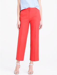 fabric and styling inspiration for the Lisette cropped trousers, B6183. Fun color, so cute.