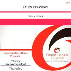 Your sales strategy is a guide for how youll go about selling and marketing your products and services. -  Start by asking yourself what problems or needs your target audience has that your product or service can help solve for them. Are there are any specific scenarios/emotions associated with this problem or need that too can address? - #thirsty4kthursday #notes4success  #sales #strategy #salesstrategy #entrepreneur #smallbusiness #businessowner #opportunities2serve