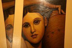 Interpretación de La Fuente-Ingres. Portrait, Tattoos, Tatuajes, Headshot Photography, Tattoo, Portrait Paintings, Drawings, Portraits, Tattos