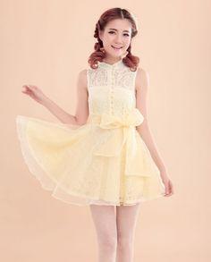 Mango Doll - Slim Collar Sleeveless Lace Dress, $33.00 (http://www.mangodoll.com/all-items/slim-collar-sleeveless-lace-dress/)