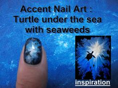 Accent nail art : turtle silhouette painting inspired