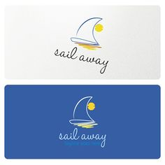 Sail Away Logo is suitable for many businesses related to boats, travel, sailing, yacht, adventure, sailing equipment, water sports and similar.