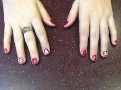 This is for you breeanna! Razorback nails :)