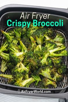 This is the best air fried garlic broccoli recipe in the air fryer! So good, quick & easy air fryer recipe using fresh broccoli. It's a healthy vegetable dish too if you're looking for a keto air fryer recipe or low carb air fried recipe. Air Fryer Oven Recipes, Air Frier Recipes, Air Fryer Dinner Recipes, Air Fryer Chicken Recipes, Air Fryer Recipes Potatoes, Air Fryer Recipes Vegetables, Air Fryer Recipes Keto, Air Fryer Chicken Wings, Low Carb Paleo