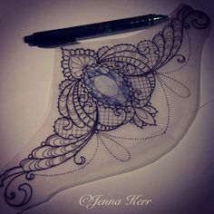 change out the gem. Make it a cameo or a clock without arms. under boob tattoo design - Google Search