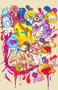 illustrations issues du portfolio du jeune illustrateur mexicain Raul Urias, basé à Mexico
