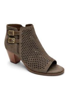 6f1a23ae59fd Orthaheel Women s Chryssa Peep Toe Ankle Bootie - Greige - 7.5M Open Toe  Booties