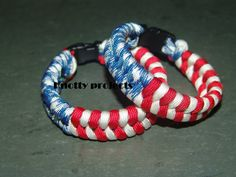 American Flag Paracord bracelet by knottyprojects on Etsy, $10.00
