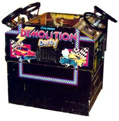 I loved this game SO much. Can't find it at any arcade. History Of Video Games, Demolition Derby, Classic Video Games, School Videos, Winning The Lottery, Arcade Games, Videogames, Fun Time, Gaming
