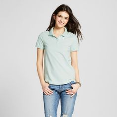 Women's Polo Shirt Aqua (Blue) XS - Mossimo Supply Co.