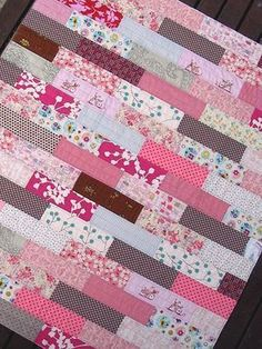 Pretty in Pink Quilt What could be sweeter than a pink quilt for your teen girl? With simple shapes, this quilt is great for beginners to make.