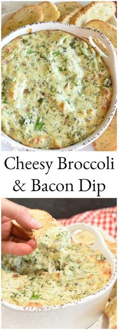 Cheesy Broccoli and Bacon Dip is one of those appetizers that will make you swoon from the very first bite. It& one of those finger foods that you can& convince yourself to walk away from! I mean really& bacon& lots of melted cheese& e Easy Appetizer Recipes, Dip Recipes, Appetizers For Party, Cooking Recipes, Meat Appetizers, Keto Recipes, Jalapeno Recipes, Party Dips, Appetizer Dips