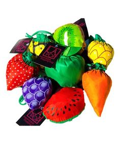Look what I found on #zulily! Fruit Reusable Shopping Bag - Set of Four #zulilyfinds