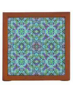 Colored seamless triangle pattern pencil holder $30.90 *** Colored seamless triangle mosaic pattern - desk organizer