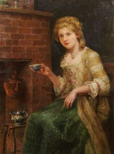 Jennie Augusta Brownscombe - Woman at tea | Flickr - Photo Sharing!