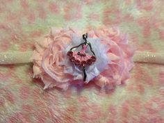 Soft Pink and White Fancy Ballerina Headband by HannahHeadbands, $12.00